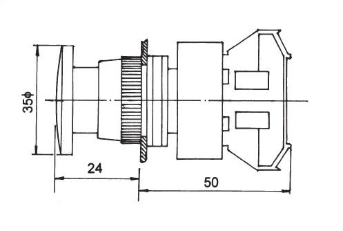 Drucktastenschalter AEPB22-1C