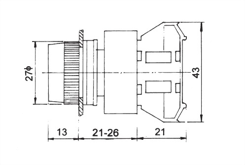Pushbutton Switches APB22-1C