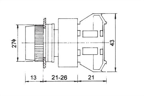 Pushbutton Switches APB22-1O
