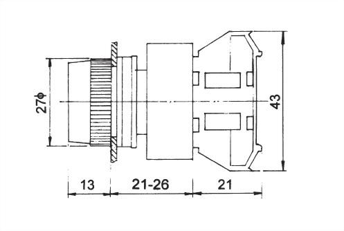 Pushbutton Switches APB22-1OC