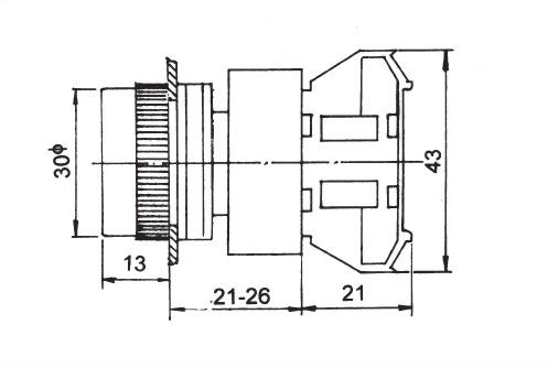 Pushbutton Switches APB25-1OC