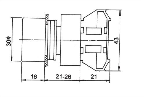 Waterproof Pushbutton Switches RPB22-1OC