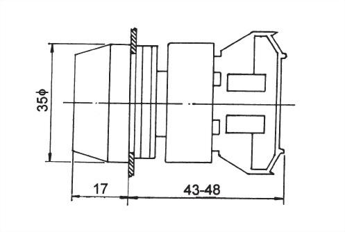 防水按鈕開關 RPB30-1C