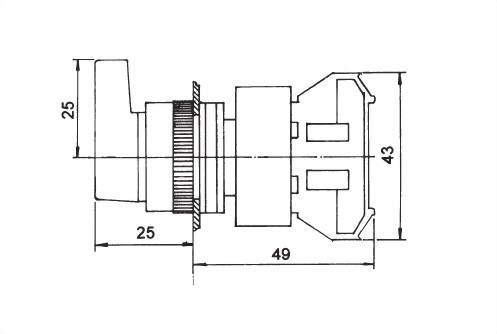 Selector Switches LUSS22-1OC