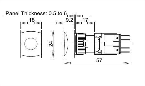 Illuminated Pushbutton Switches A16TM