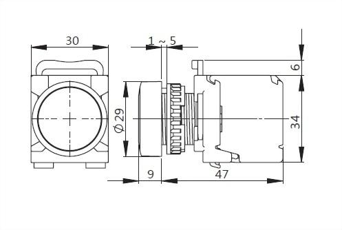 Illuminated Pushbutton Switches A2MRLF11
