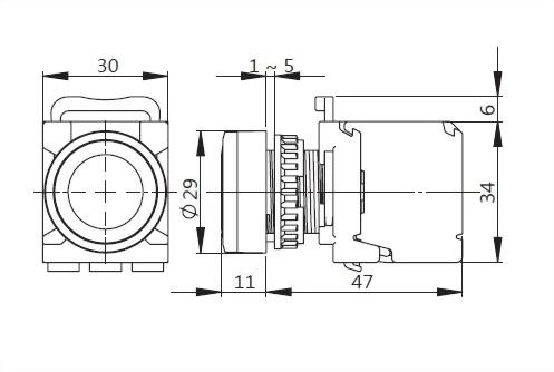 Illuminated Pushbutton Switches A2MRGF11