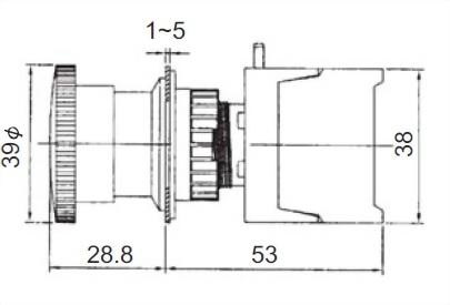 照光式緊急停止開關 MBL22-1C