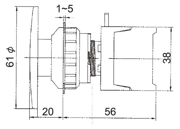 Illuminated Pushbutton Switches BLXE30-1C