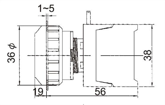 照光按鈕開關 EPFL30-1OC