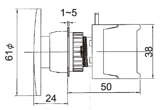 Illuminated Pushbutton Switches GEBL22A-1OC