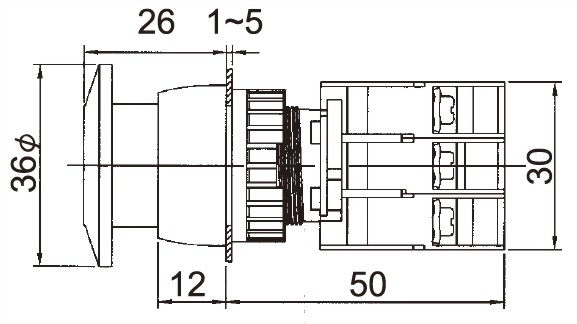 Illuminated Pushbutton Switches GEPFL22-1OC