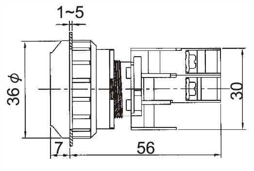 照光按鈕開關 LXB30-1C