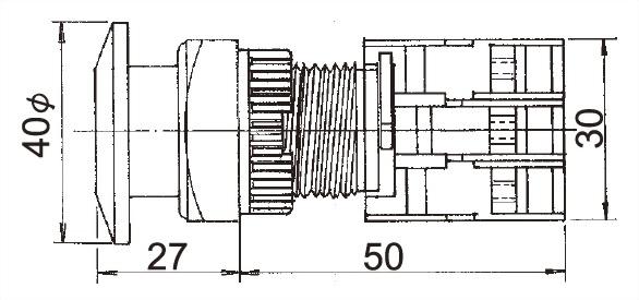 Illuminated Pushbutton Switches LXES22-1O