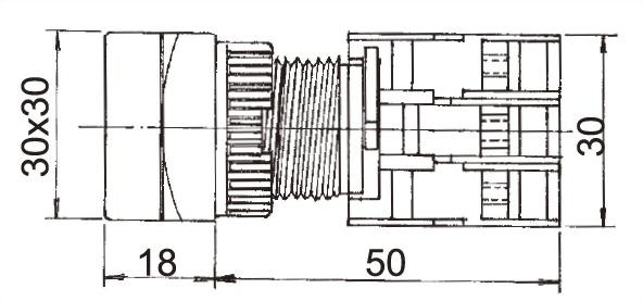 Illuminated Pushbutton Switches LXGS22-1O