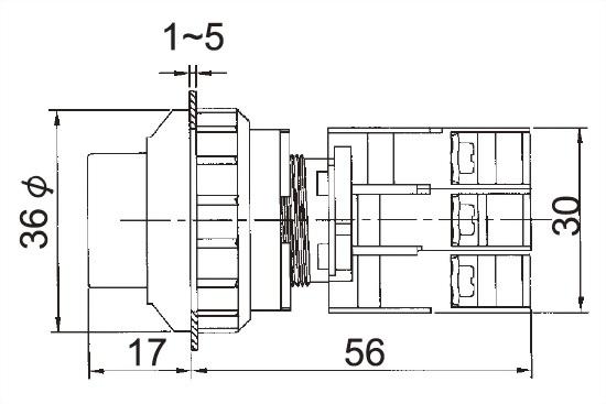 Illuminated Pushbutton Switches LXL30-1OC