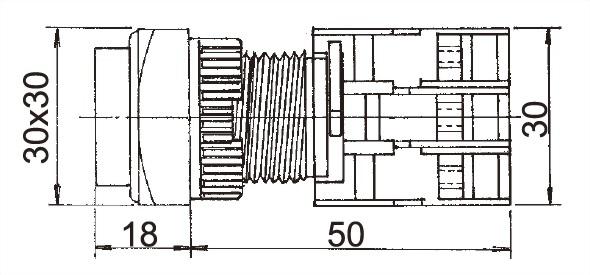 Illuminated Pushbutton Switches LXLS22-1C