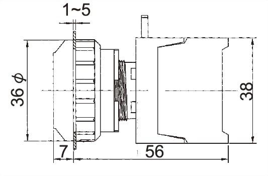Illuminated Pushbutton Switches PFL30-1OC