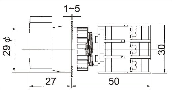 照光選擇開關 GLSL22-1OC