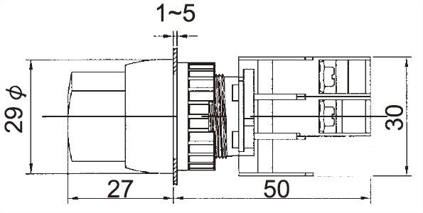 Illuminated Selector Switches GSL22-1C