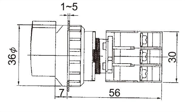 Illuminated Selector Switches LSL30-1OC