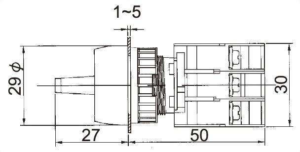 محدد مفاتيح التبديل LSRL22-2O