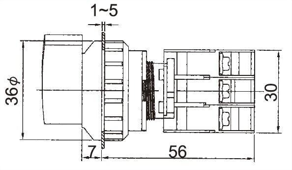Illuminated Selector Switches LSRL30-1OC