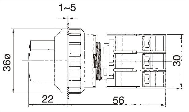 Illuminated Selector Switches SL30-1OC