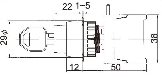 鑰匙選擇開關 GKSR22B-2O