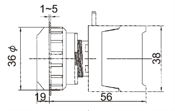 Interruptores pulsadores EPFL30-1OC