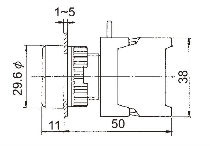 Pushbutton Switches XB22-1O