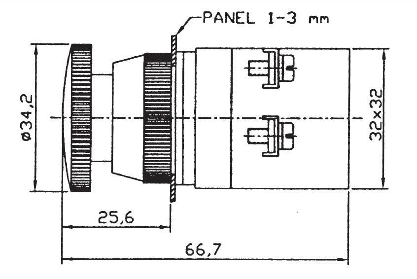 Pushbutton Switches EPB25-1B