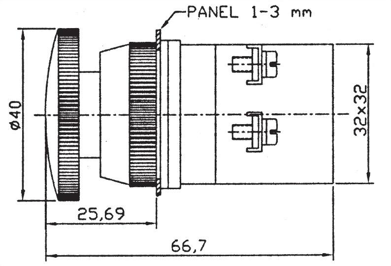 按鈕開關 EPB30-1B