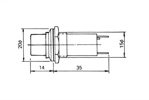 16mm Panel Indicating Lamp PL-1603