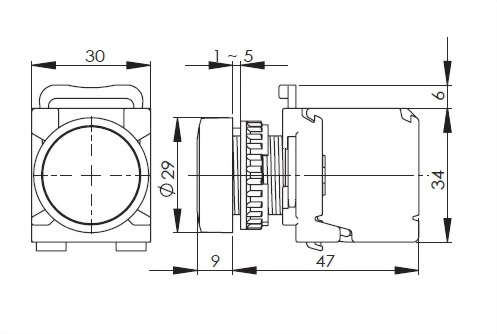 22mm Panel Indicating Lamp A2MRPL