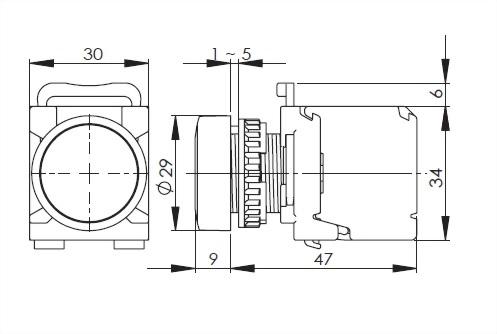 面板指示燈22毫米 A2PL