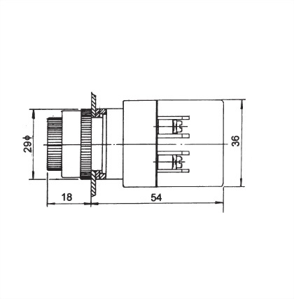 22mm Panel Indicating Lamp ANPL-22