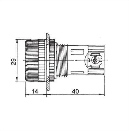 面板指示燈25毫米 NPL-25