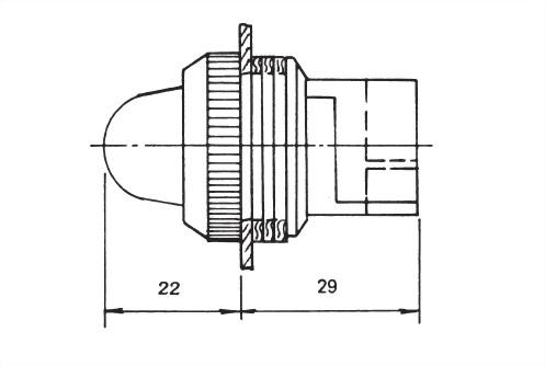 面板指示燈25毫米 NPLR-25B