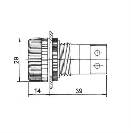 25mm Panel Indicating Lamp SNPL-25