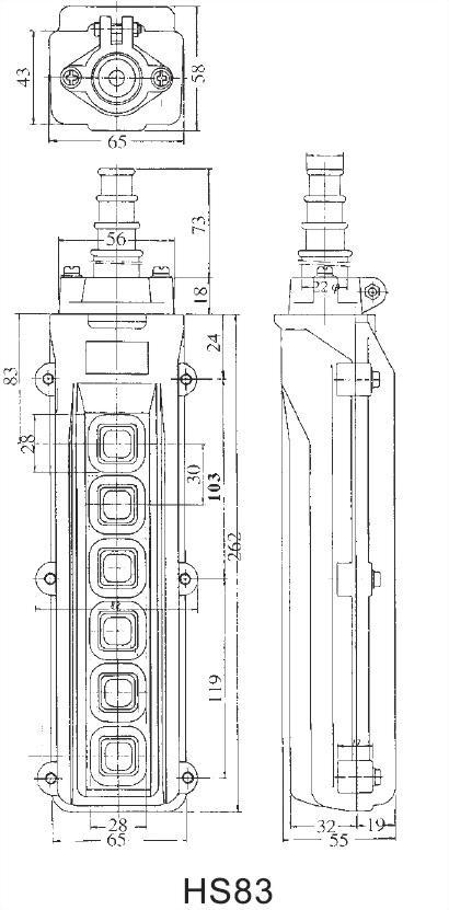 間接式吊車開關 HS-861