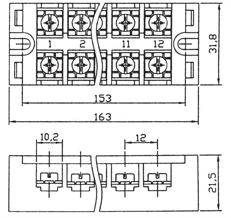 固定式端子台 TB12-25