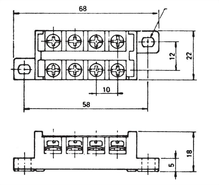 接線端子阻擋類型 TB4-15