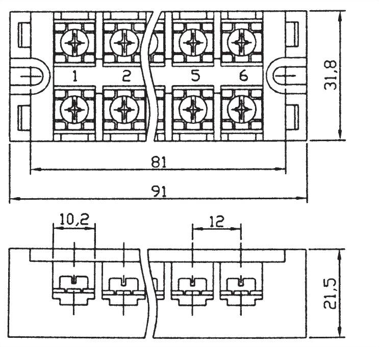 固定式端子台 TB6-25