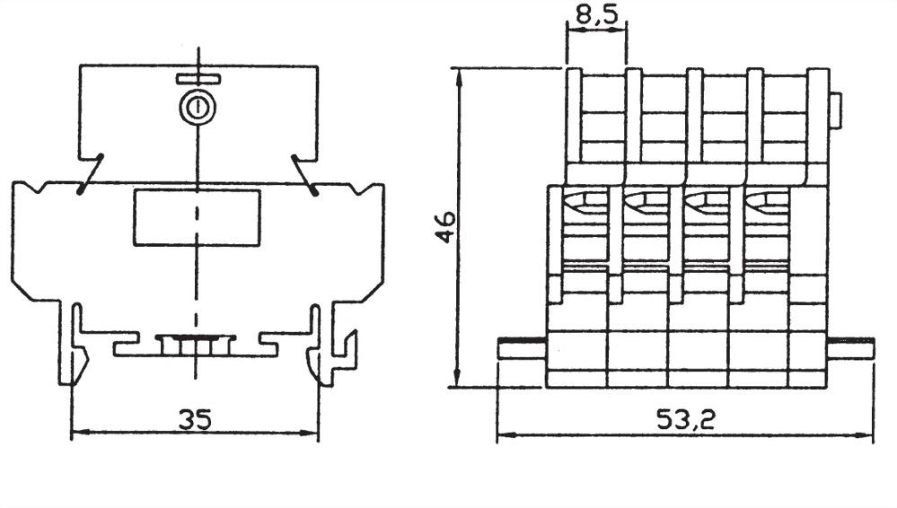 雙層卡式組合端子台 DTB-10