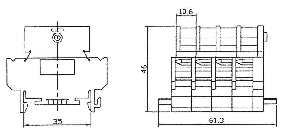 雙層卡式組合端子台 DTB-20