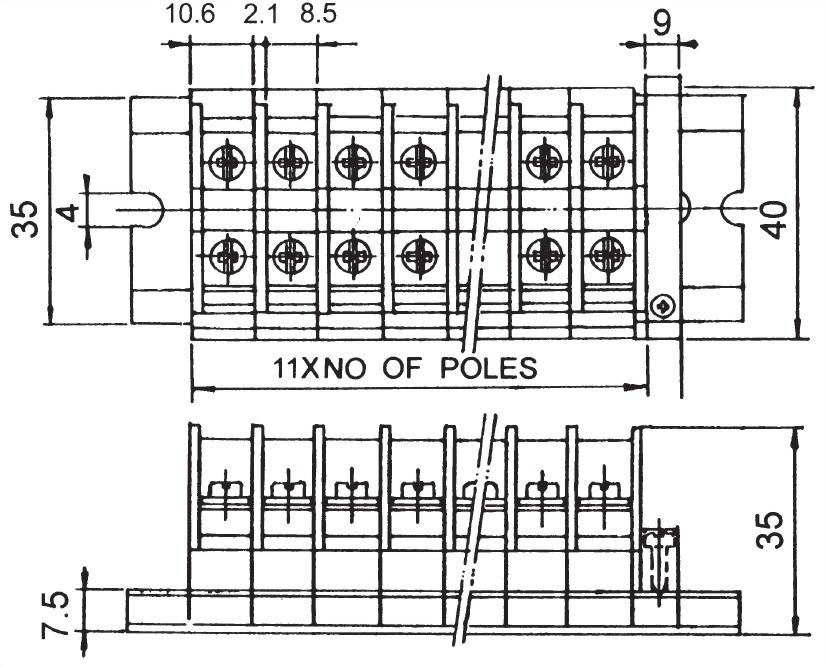 Din Rail Terminal Blocks TR-20