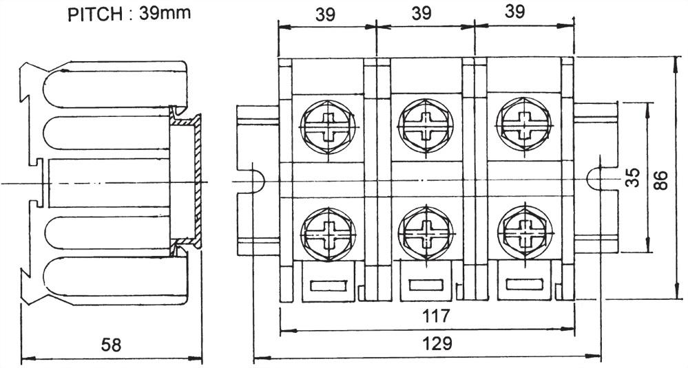 軌道組合式端子台 TR-200