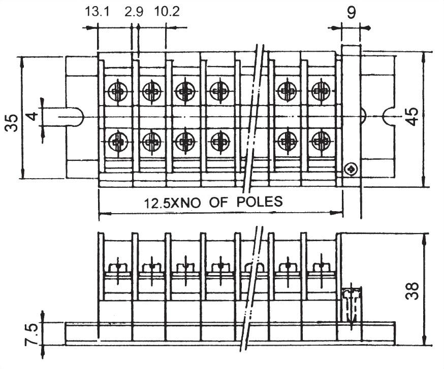 軌道組合式端子台 TR-30