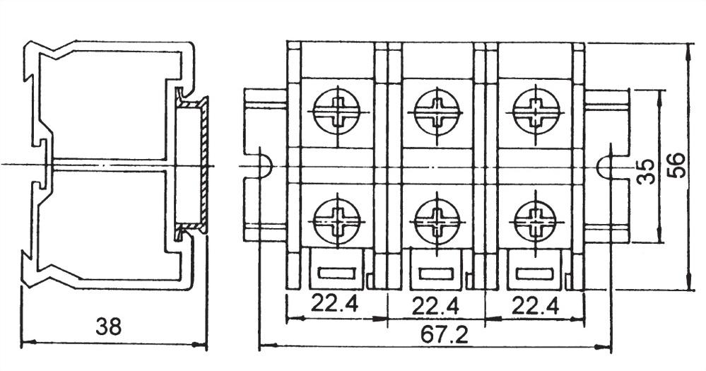 軌道組合式端子台 TR-60